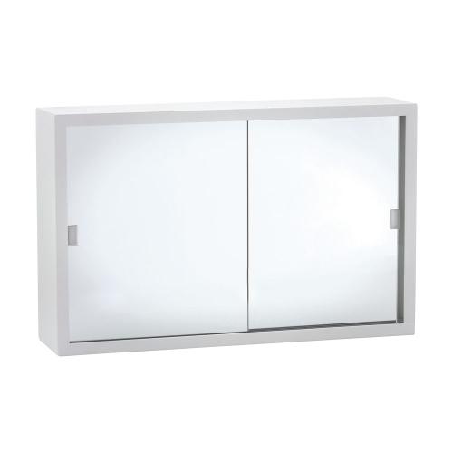 600 GLASS Mirror Door Metal Cabinet - Fienza